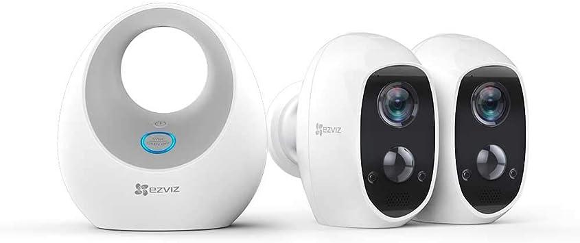 Opinión sobre EZVIZ C3A - Cámara con Batería, Sistema de Seguridad y Vídeo Vigilancia, Duo Pack con W2D, WiFi 2.4 GHz 1080p FHD, Exterior/Interior, Visión Nocturna, Audio Bidireccional y Recargable