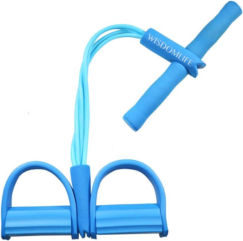 Cuerda para ejercitar piernas, 4 Tubos, multifunción, para Yoga, Fitness, Pedal, dominadas, Culturismo, etc. Bandas de Ejercicio de Resistencia para Gimnasio en casa