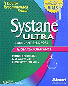 Systane Ultra Lubricant Eye Drops Preservative-Free Vials, 0.7mL