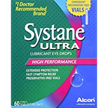 Systane Ultra Lubricant Eye Drops, 60 Count,Pack of 1