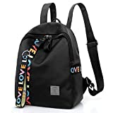 Auwer Girls's Backpack, Leisure Zipper Bag Student Backpack Folding Bag Shoulder Bag Travel Bag (Black)