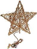 Kurt Adler 20-Light Gold Rattan Star