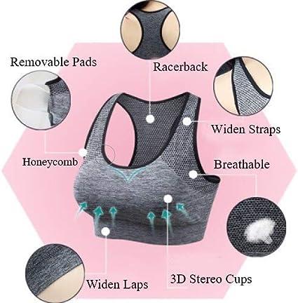 Tianken Women Racerback Sport Bras High Impact Seamless Yoga Gym Fitness Running Workout Activewear Bra