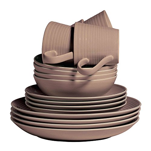 Royal Doulton GRMZTA21736 Maze Taupe 16 Piece Set, Brown