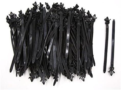 eDealMax 100 piezas DE 7 mm x 165 mm plástico autoblocantes Postal ajuste del Cable del Abrigo del alambre de Lazo corbata Sujetador