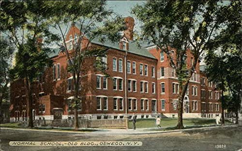 Normal School Old Building Oswego New York Ny Original Vintage