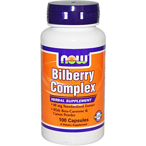 Now Foods Bilberry Complex 80mg - 100 Caps 8 Pack by NOW Foods