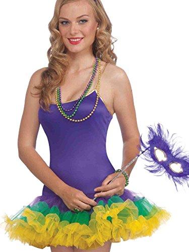 Forum Mardi Gras Masquerade Party Costume, Multi-Colored, One Size -