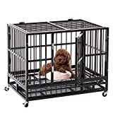 Heavy Duty Dog Cage Strong Metal Kennel, Medium Animal Crate for Pet with Tray For Sale