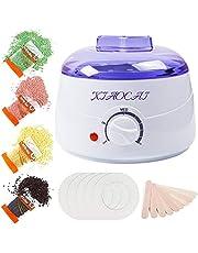 Waxverwarmer, Waxing Kit ontharingsmachine met 4 harde wasbonen (10 oz/pack) en 10 applicatorstickers voor alle lichaam, gezicht, arm, benen