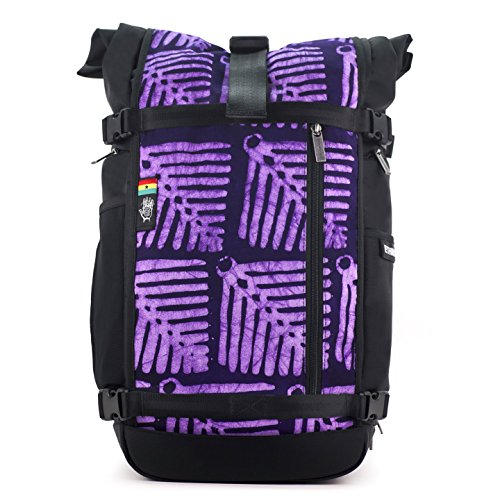 Ethnotek Raja 30L Large Travel Backpack for Women with Hand Woven Fabric | Ghana 24 by Ethnotek