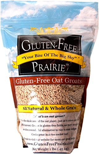 Groats Oat Raw - Gluten Free Prairie Oat Groats 1 Pound (Pack of 1), Gluten Free, Whole Grain, Raw & Sproutable, Rice Substitute, Vegan, Low Glycemic, High in Protein, Fiber, and Vitamin B
