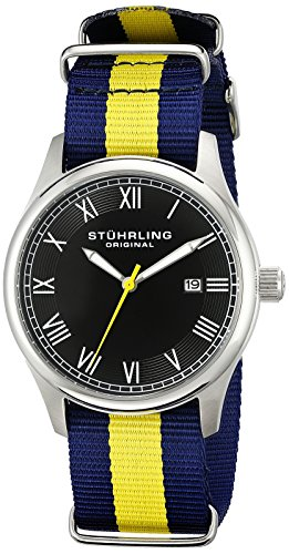 Stuhrling Original Unisex 522.03 Gen X Liberty Date Canvas Strap Watch