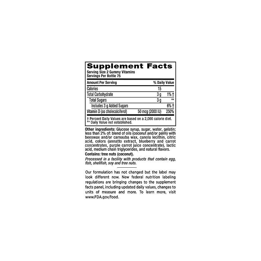 Vitafusion Vitamin D3 Gummy Vitamins, 150 ct