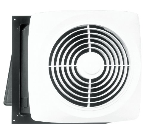 Broan 12C Motordor Through Wall Utility Fan, 10-Inch 360 CFM, White Plastic Grill by Broan