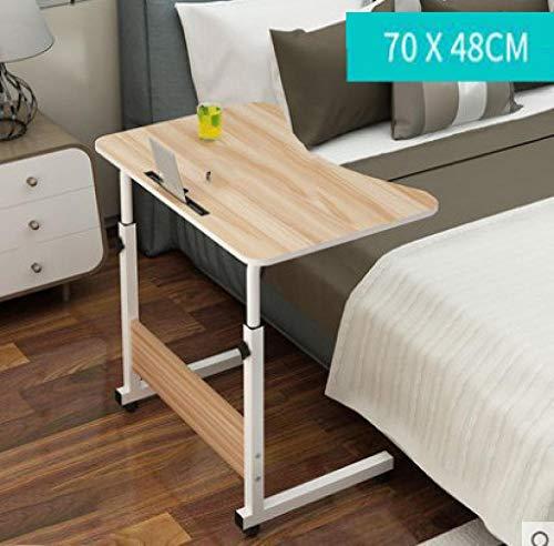 portatil de la mesa de altura regulable la mesa de mesa auxiliar de juego para portatil con soporte para de alto brillo lacado con antideslizante-barra Color de madera 70x48cm con ranura para tarjeta