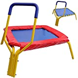 Mini-Trampoline-34-Handrail-Bar-Pad-Indoor-Kids-Child-Rebounder-Jumper-Bouncer