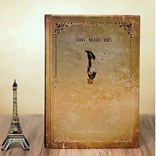 뱀파이어다이어리 노트북 하드 커버 품질 종이 쓰는 메모장 전표, 선물, 여행자 연구 5 * 7.3 인치 (Color: Gold) / Vampire Diaries Notebook, Hardcover Quality Paper Writing Notepad Journal, Gifts, Traveler`s Studies 5* 7.3 Inch (Color: G...