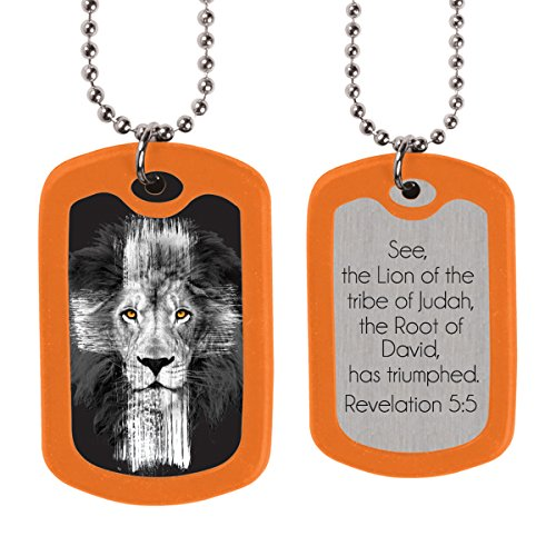 Lion Christian Dog Tags (Kerusso Christian Necklace)