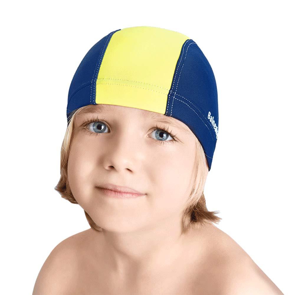 Polyamide Swim Caps for Kids Comfortable Fit for Long Hair and Short Hair BALNEAIRE Swim Cap Kids