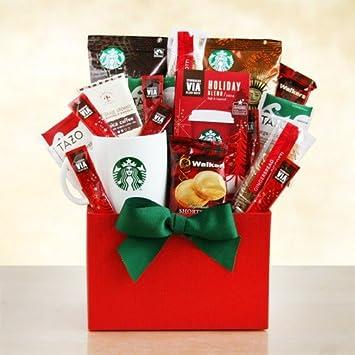 Amazon.com : Merry Christmas Starbucks Coffee and Tea Gift Basket ...