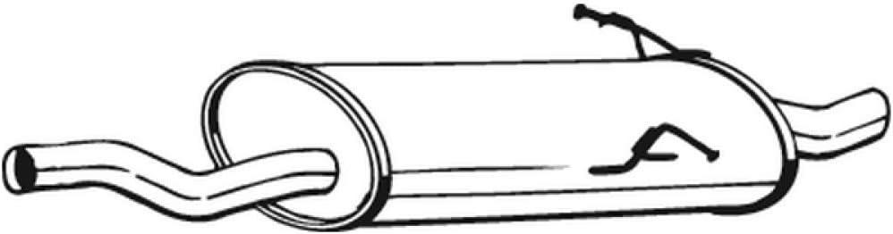 Bosal 247 115 Endschalldämpfer Auto