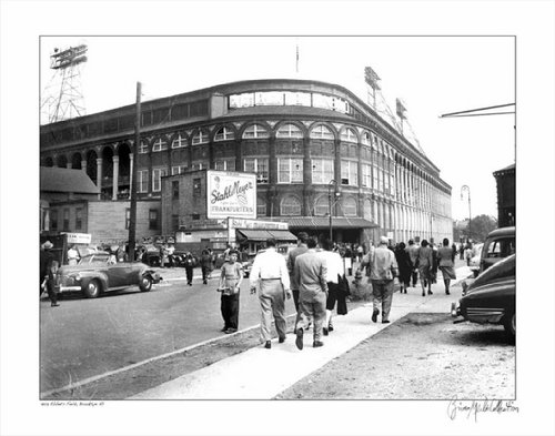 (Ebbets Field Brooklyn NY 1947 - 14x18 - Print without Frame)