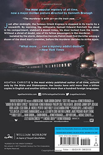 Amazon.com: Murder On The Orient Express: A Hercule Poirot Mystery (Hercule  Poirot Mysteries) (9780062689665): Agatha Christie: Books