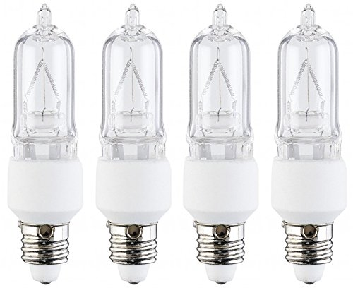 4 Pcs of 50 Watt E11 Base Mini Candelabra, Halogen Light Bulb, 130 Volts, 130V - Mini Candelabra
