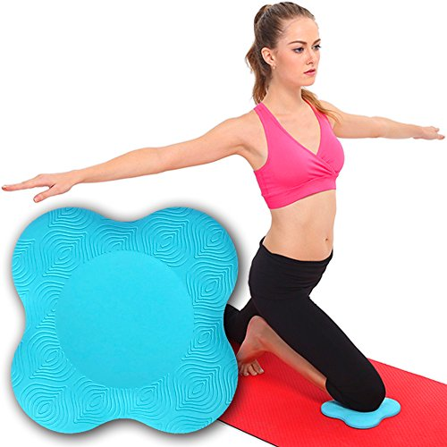 (My Way Fitness Yoga Knee Pad by MWF – Works Best with Your Yoga Mat - Kneeling Support for Yoga & Pilates Exercise – Thick Yoga Knee Pads Cushion for)