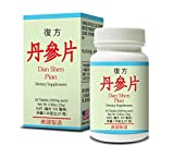Fu Fang Dan Shen Pian Herbal Supplement Helps Cardiovascular functions and Circulatory system, Remove Blood Stasis, Chest Distress And Angina 50 Tablets 500mg/each Made In USA