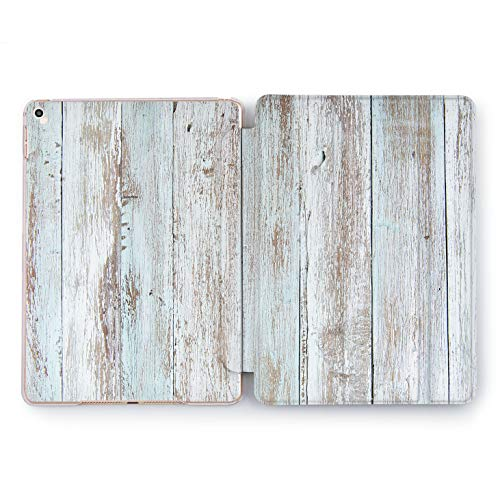 Wonder Wild Wood Planks iPad 5th 6th Gen Abstract Paint Watercolor Mini 1 2 3 4 Air 2 Pro 10.5 12.9 2018 2017 9.7 inch Smart Stand Cover Wooden Apple Slices Decor Case Nature Design Cute Print Vintage]()