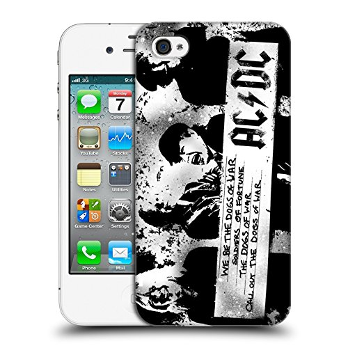 Official AC/DC ACDC Dogs Of War Lyrics Hard Back Case for Apple iPhone 4 / 4S