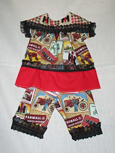 FARMALL VINTAGE ADVERTISING SIGN FABRIC DRESS FOR AMERICAN GIRL 18