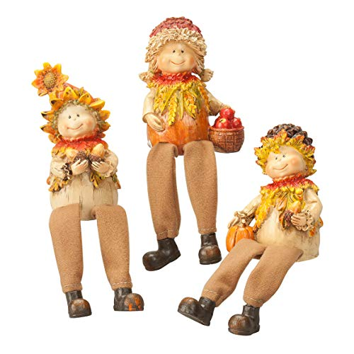 Miles Kimball Scarecrow Shelf Sitters, Set of 3