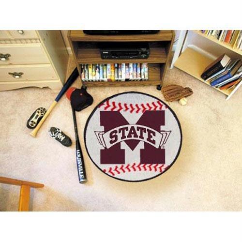 Fanmats Mississippi State Bulldogs Baseball-Shaped Mat
