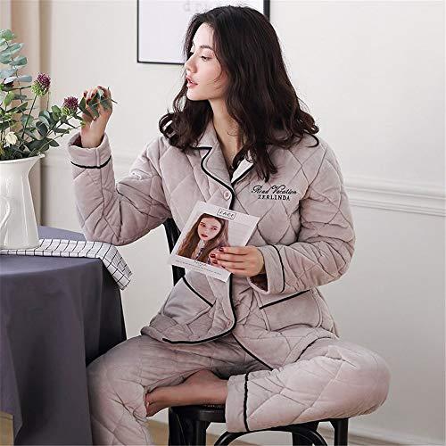 Capas Polar Baijuxing Con Color Capucha algodón 3 Conjunto De Pijamas 2 Coral Para Forro Xl Mujer wAvqAUgx7