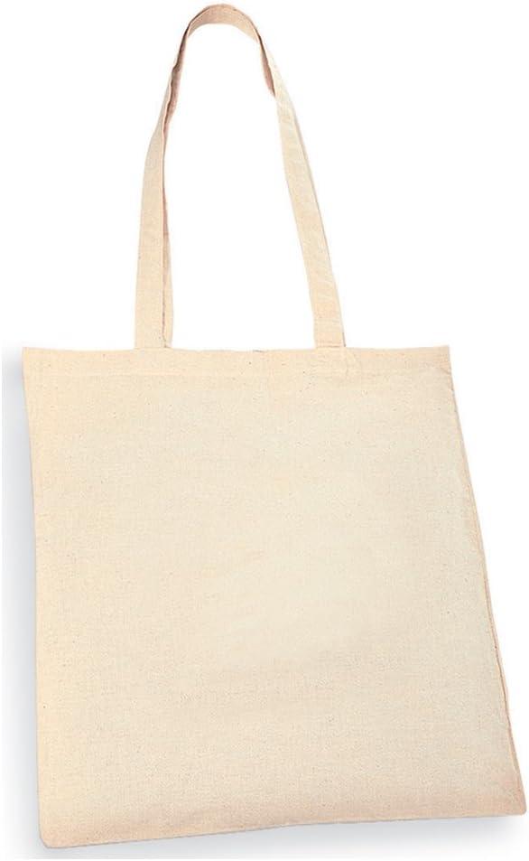 eBuy GB - Bolso de tela de sintético, marrón natural mediano