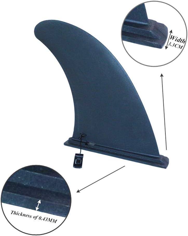 sin la Base DGNXT 2 PCS Tabla de Surf Fin Plug-in Tipo de Hebilla Surf Sola Aleta de Stand Up Paddle Board Tabla de Surf de Superficie Lisa de Nylon 8,6 * 7,3 Pulgadas