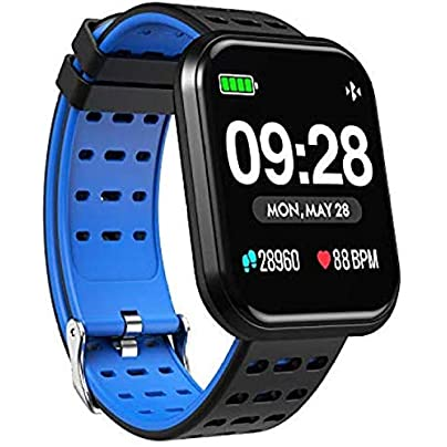 BUFOPER Smart Watch Bluetooth Running GPS Fitness Tracker Watch with Heart Rate Monitor Waterproof Smart Wristband Pedometer Watch for Kids Woman Man Estimated Price -