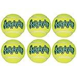 513dfg93hCL. SS150  - KONG Air Dog Squeak Air Tennis Ball Dog Toy