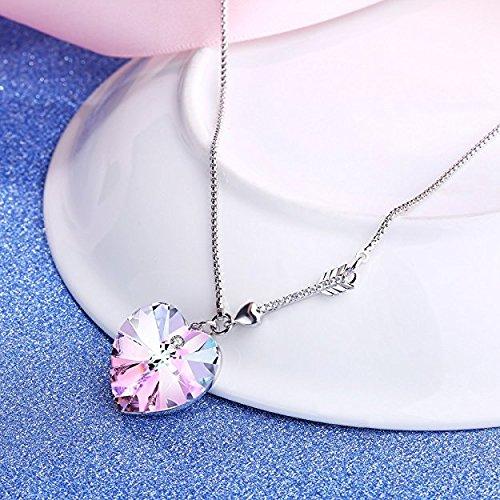Angelady Collier femme Bijoux composés de cristaux SWAROVSKI Pendentif Idéal (7)