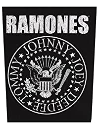 Ramones Classic Seal Black Back Patch