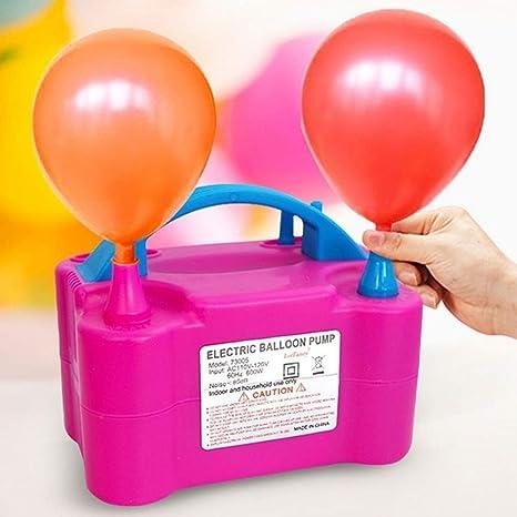 MUPAI - Bomba de balón eléctrico, Doble Boquilla, Rosa roja, Bomba ...