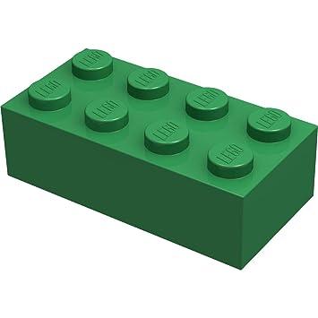 6 Stück Lego Basic Stein in grün 2 x 4