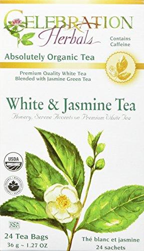 (CELEBRATION HERBALS White & Jasmine Tea Organic 24 Bag, 0.02 Pound)