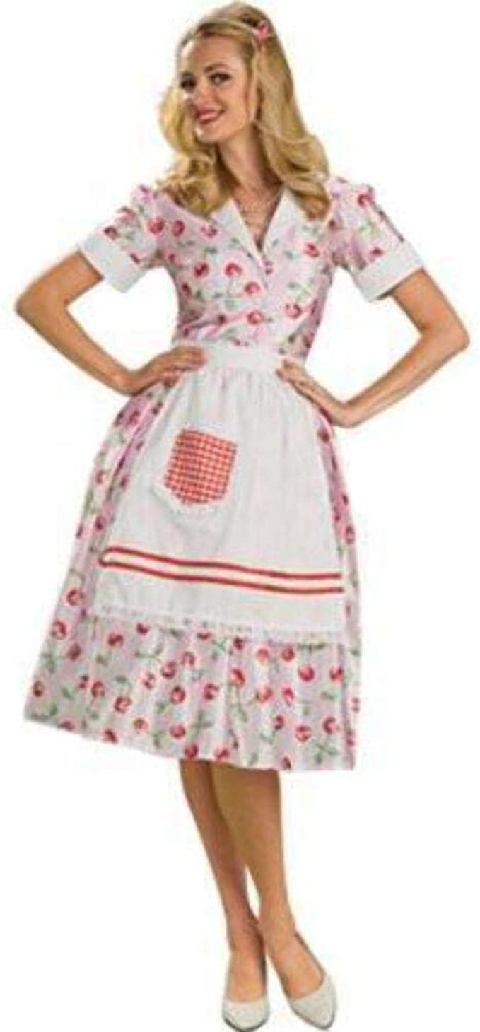 1950s Costumes- Poodle Skirts, Grease, Monroe, Pin Up, I Love Lucy Rubies Costume Co. Womens 50s Housewife Costume $29.51 AT vintagedancer.com