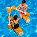 Yealsha Water Entertainment Game Toy Inflatable Float Raft Chair Stick Swim Ring Pool Rafts & Inflatable Ride-ons(2 x Float Chairs, 2 x Stick) from dlesxin