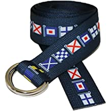 D-Ring Canvas Web Sailing Belt Made in USA by Thomas Bates