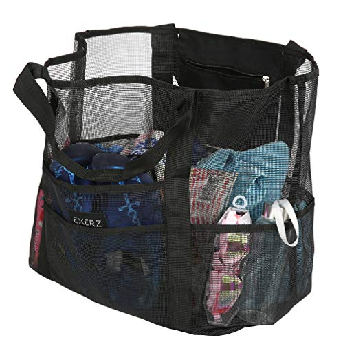 For Summer Sunscreen Practical Toys Bag EX children Multi Functional Extra Holiday Clothes Duty And Tote Bag BB53 play Mesh For Exerz Family Getaways Carry Beach All Pool Black Heavy Fun XL wXpTpv